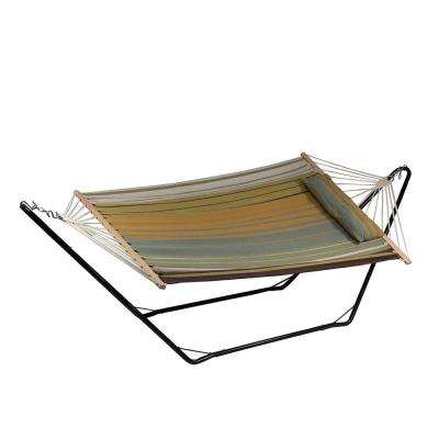 9.75 ft. Fabric Hammock and Pillow with 10 ft. Stand in Sunset Beach