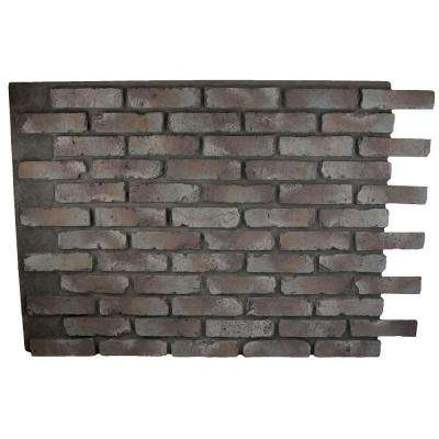 Faux Reclaimed Brick 32 in. x 47 in. x 3/4 in. Panel Mountain Grey
