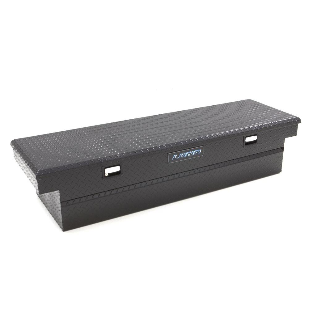 Lund 47 75 In Gloss Black Aluminum Full Size Crossbed Truck Tool Box