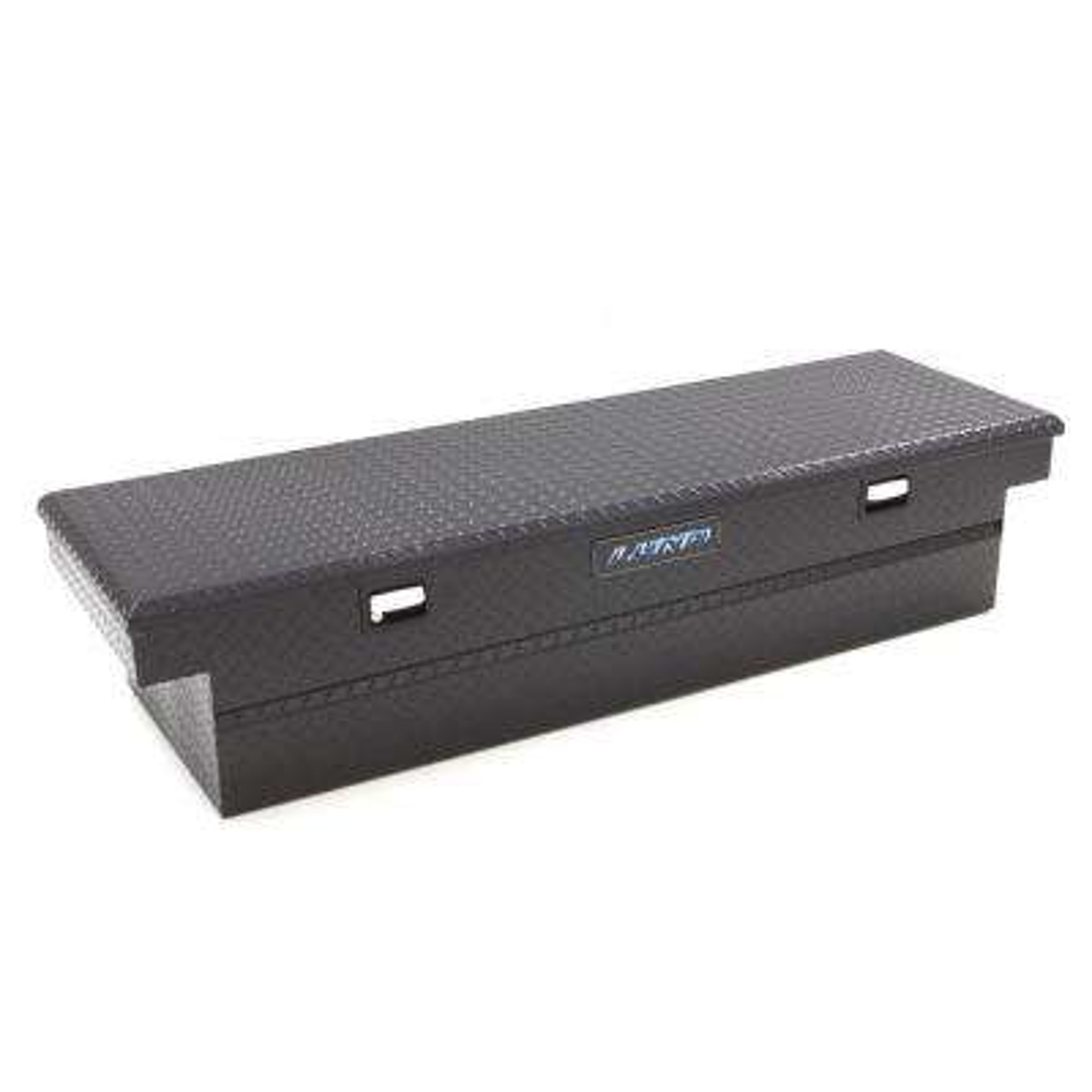 70 in. Cross Bed Full Size Black Aluminum Tool Box
