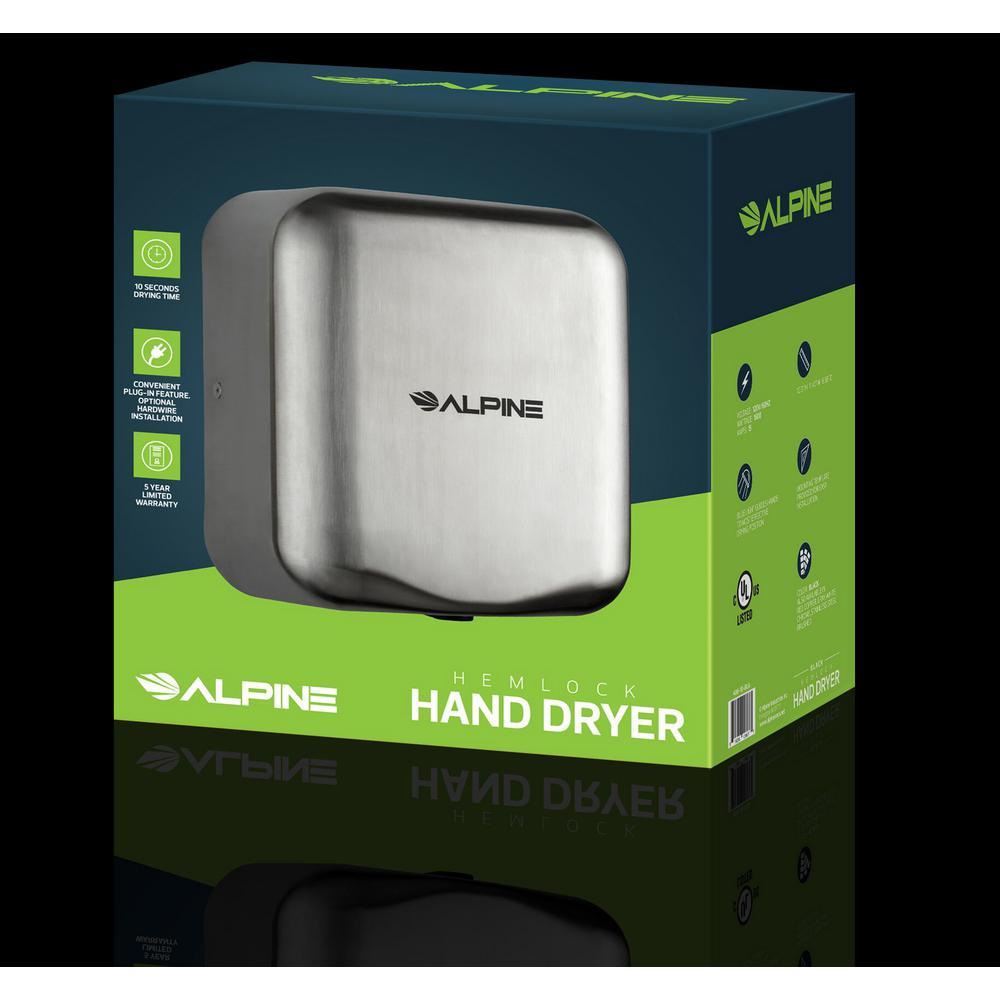 Alpine 400-10-SSB Hemlock Heavy Duty Stainless Steel Automatic Hand Dryer