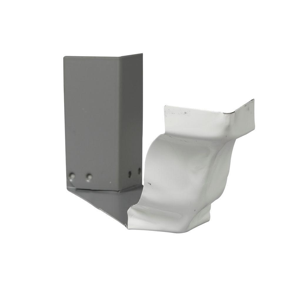 Rainhandler 5 Ft White Aluminum Rh Plus With Brackets And