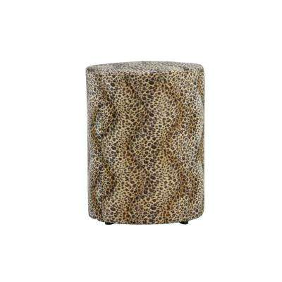 Tyler 23 in. Leopard Animal Print Round Stool