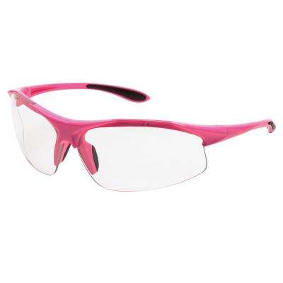 Ella Ladies Eye Protection, Pink Frame/Clear Lens