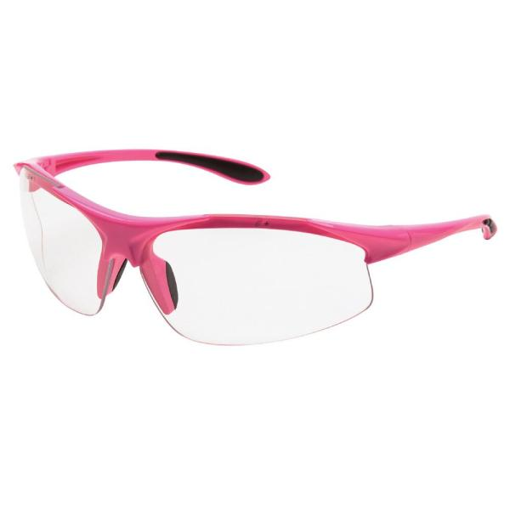 Ella Ladies Eye Protection, Pink Frame/Clear Lens