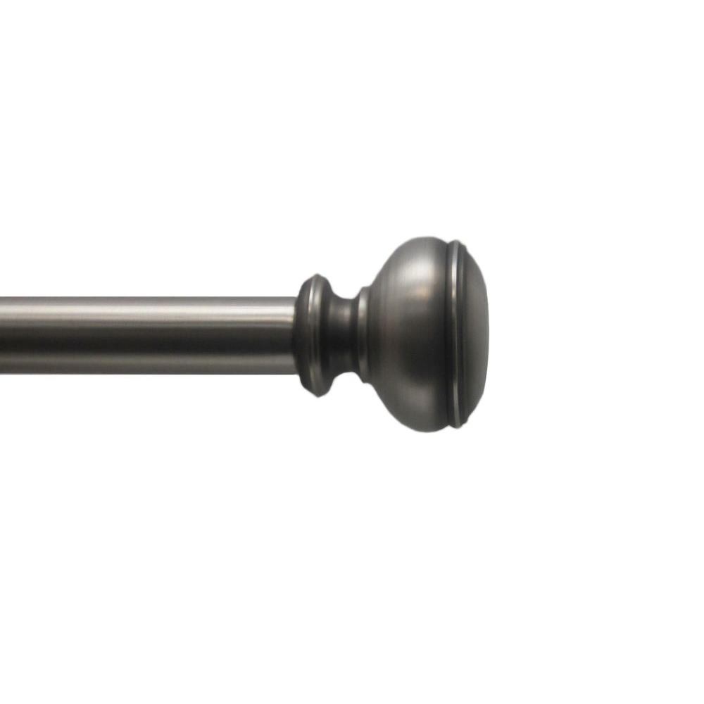 72 in. - 144 in. 1 in. Doorknob Rod Set in