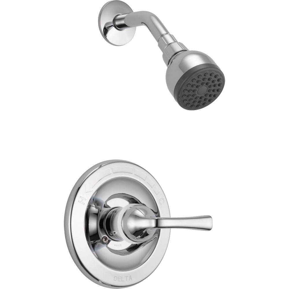 Delta Shower Valve.Delta Foundations Single Handle 1 Spray Shower Faucet In Chrome Valve Included