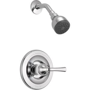 Foundations Single-Handle 1-Spray Shower Faucet in Chrome (Valve Included)