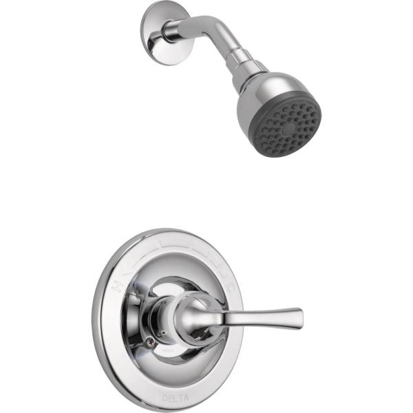 Delta Foundations Single Handle 1 Spray Shower Faucet in Chrome