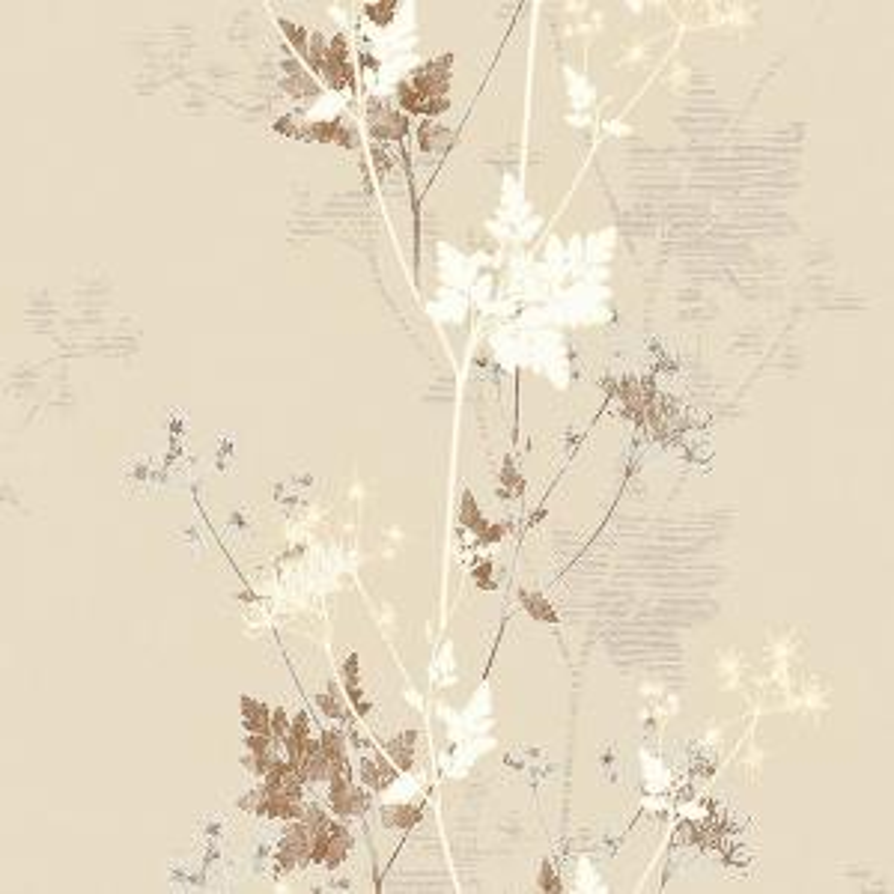 57.8 sq. ft. Tara Cream Sprig Wallpaper