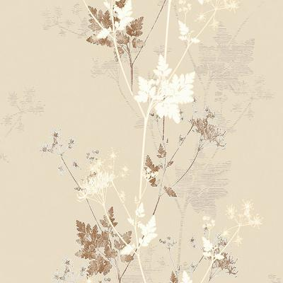 57.8 sq. ft. Tara Cream Sprig Wallpaper