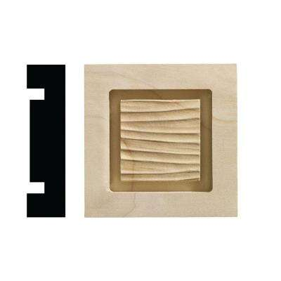 Wave Collection 13/16 in. x 3-1/4 in. x 3-1/4 in. White Hardwood Casing Door and Window Corner Block Moulding