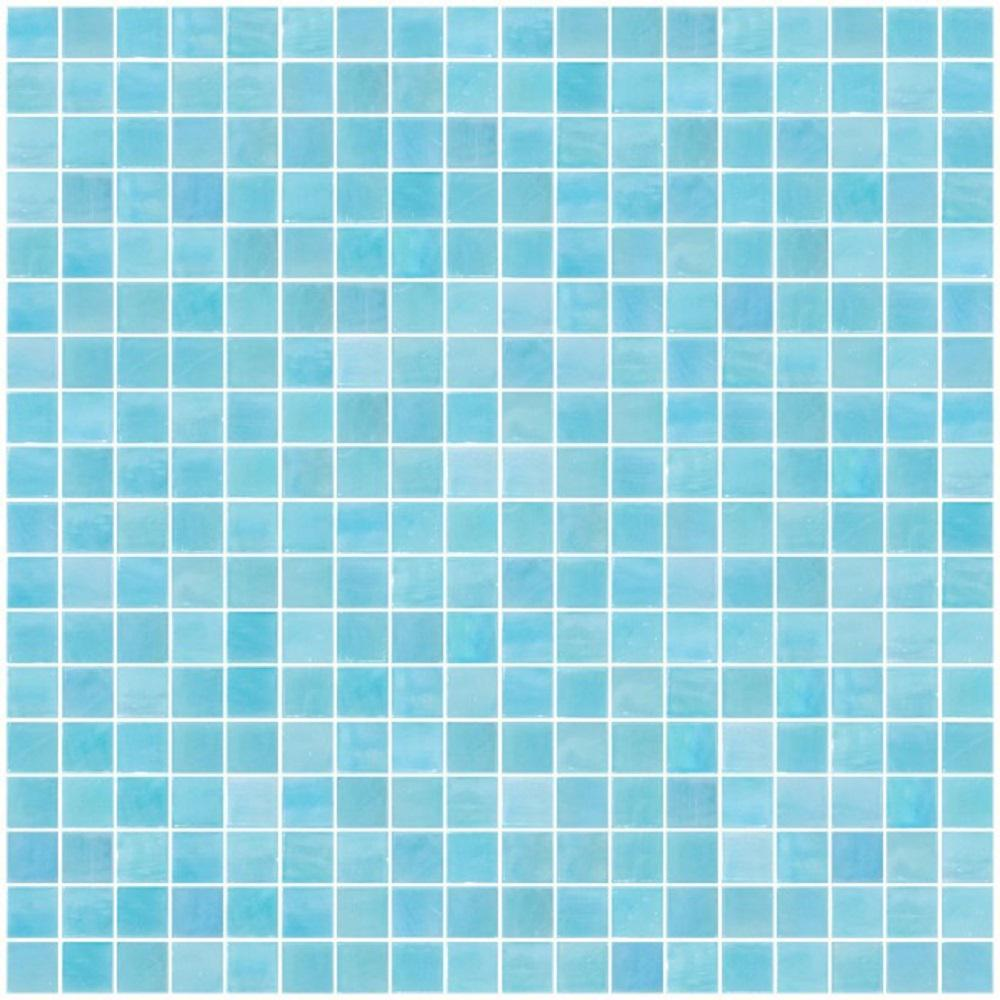 LTL Home Products 12 in. x 12 in. x 4 mm Tile Esque Aqua Blue ...