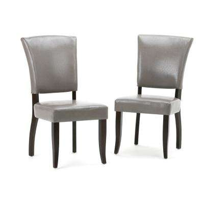Joseph Taupe PU Faux Leather Dining Chair (Set of 2)