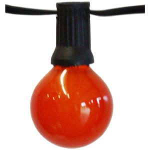 Party Light 25 ft. 24-Light String Light with Red Bulb by