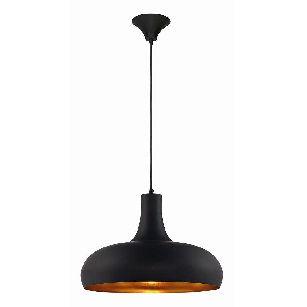 null Una Collection 1-Light Black Pendant