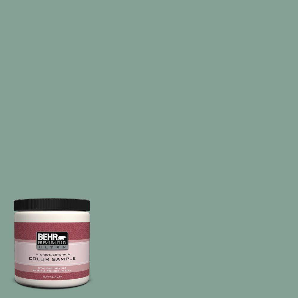 BEHR Premium Plus Ultra 8 oz. #S420-4 Australian Jade Interior/Exterior Paint Sample
