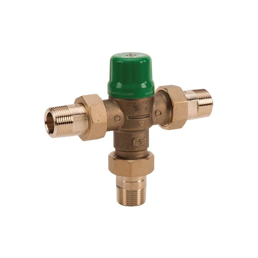 3/4 in. Union Sweat Lead-Free Mixing Valve with Gauge