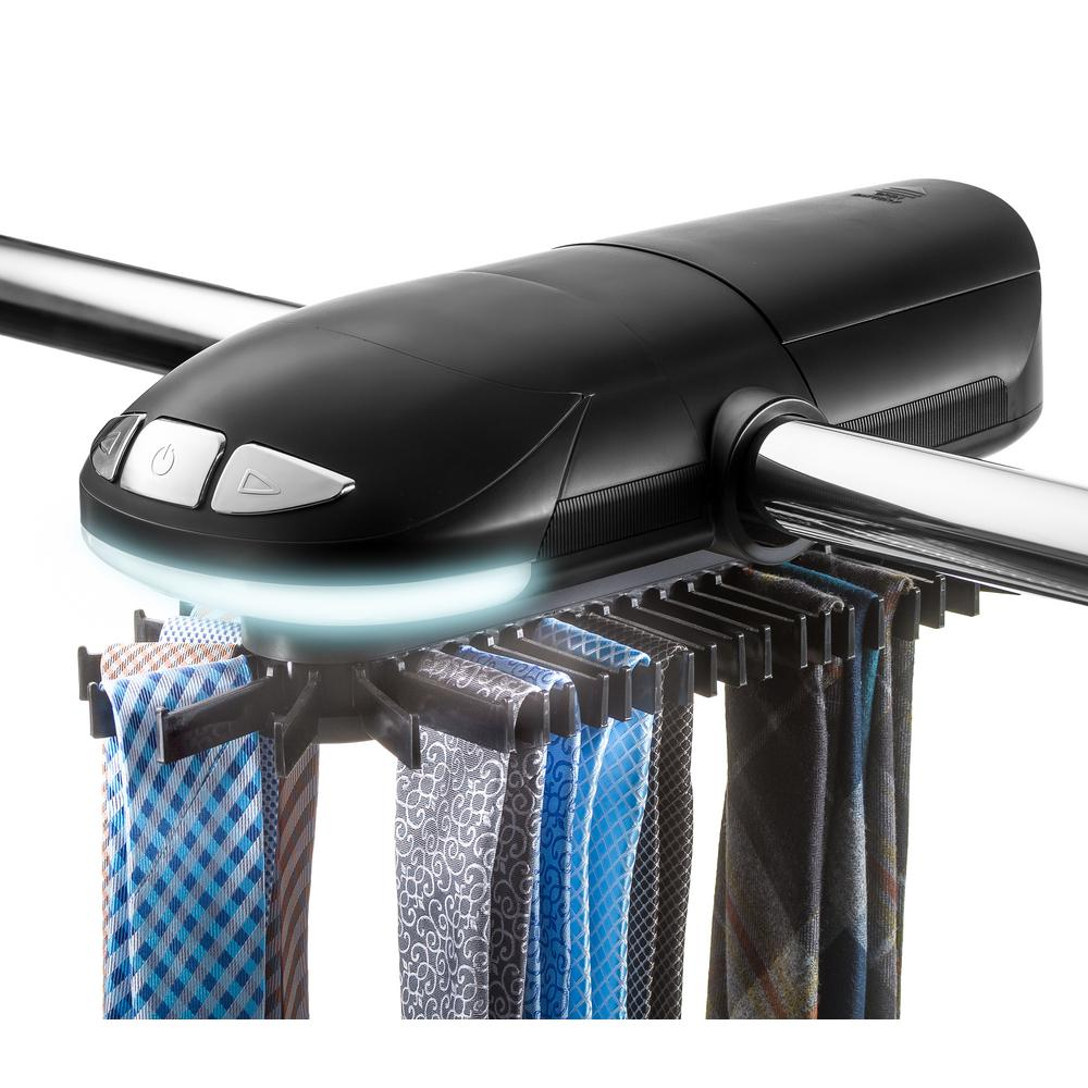 Sunbeam 50-Hook Battery Operated Tie and Belt Rotating Rack