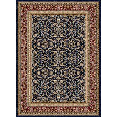 Williams Collection Izmir Navy 6 ft. 7 in. x 9 ft. 6 in. Area Rug