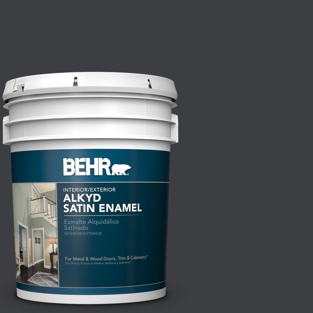 5 gal. #N520-7 Carbon Satin Enamel Alkyd Interior/Exterior Paint