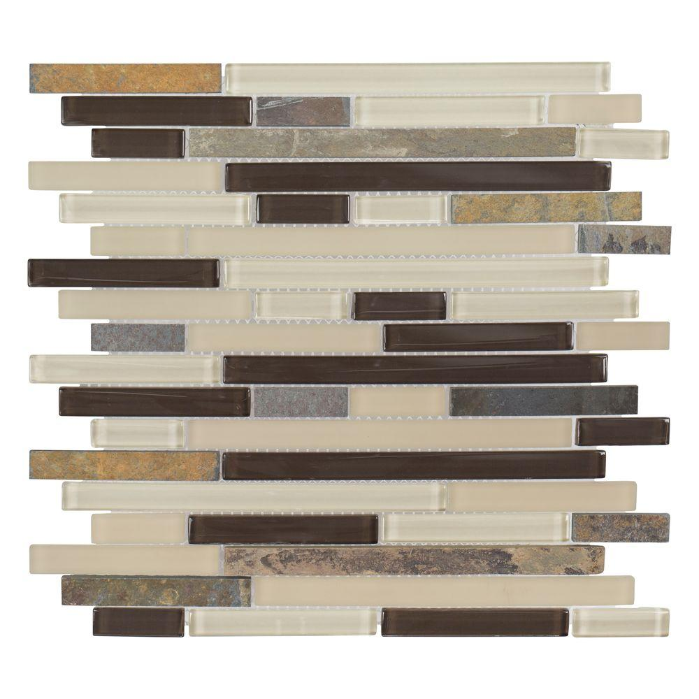 Slate Beach 11-5/8 in. x 11-3/4 in. x 6 mm Glass