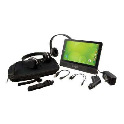 9 in. Android Tablet with Built-in DVD Player Bundle with Case and 2-Headphones