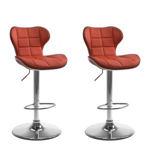 +4. CorLiving Adjustable Height Red Bonded Leather Swivel Bar Stool ...
