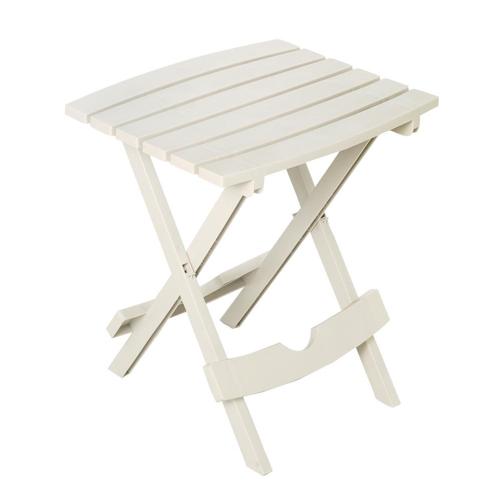 Quik-Fold Chalk Patio Side Table