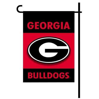 NCAA 13 in. x 18 in. Georgia 2-Sided Garden Flag Set with 4 ft. Metal Flag Stand