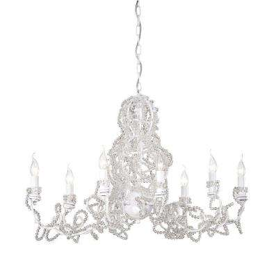 Fantasia Collection 8-Light White Clear Chandelier