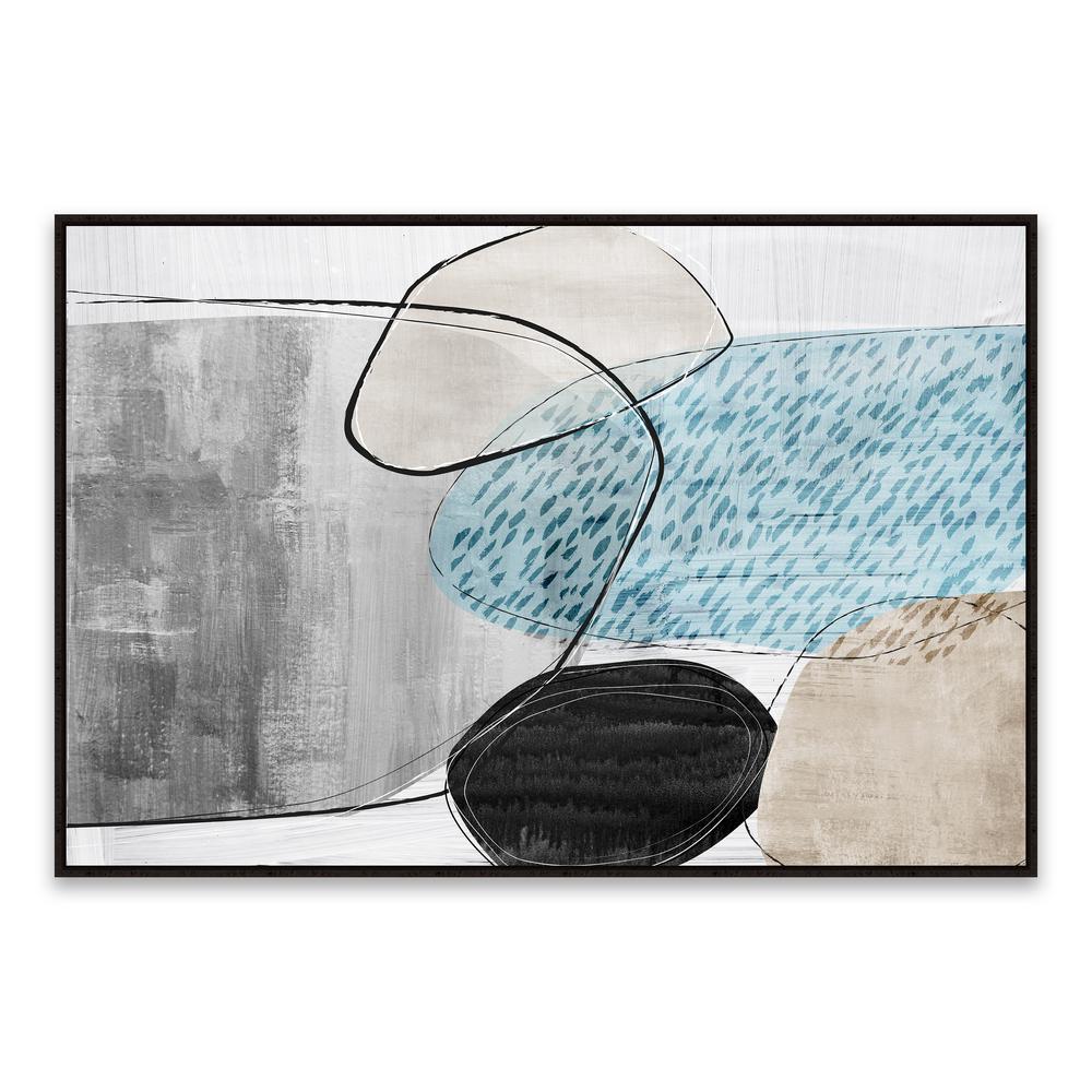 "37 in. x 25 in. ""Bolder 2"" by Nikki Chu Framed Printed Canvas Wall Art"