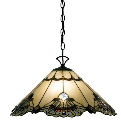 Courtesan 2-Light Brown Hanging Lamp