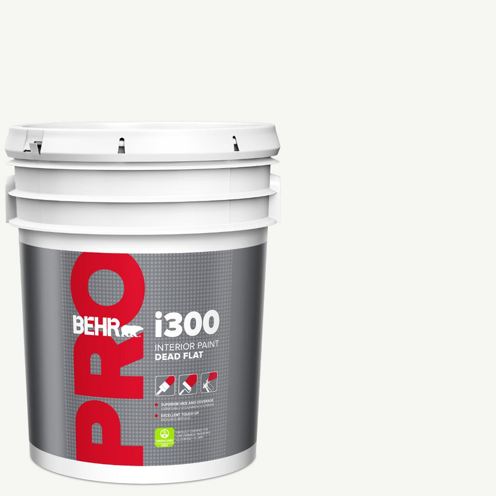 BEHR PRO 5 gal  i300 White Base Dead Flat Interior Paint