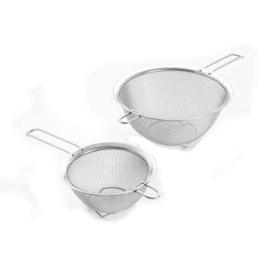 9 in. Stainless Mesh Strainers with Long Riveted Handle
