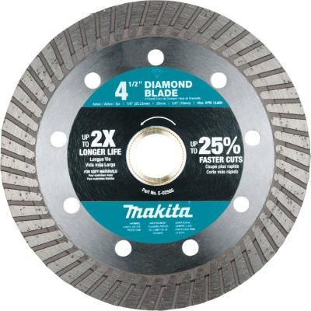 4-1/2 in. Diamond Blade, Turbo, Soft Material