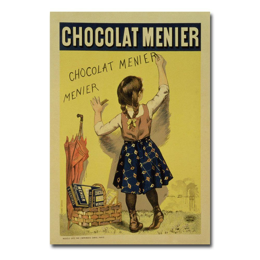22 in. x 32 in. Menier Chocolate 1893 Canvas Art