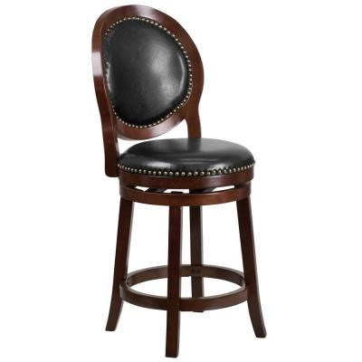 26 in. Counter Height Cappuccino Bar Stool