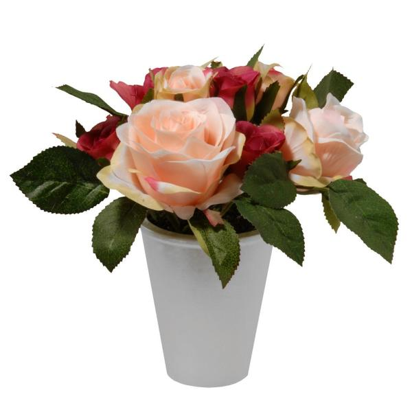 7.5 in. Potted Rose Flowers