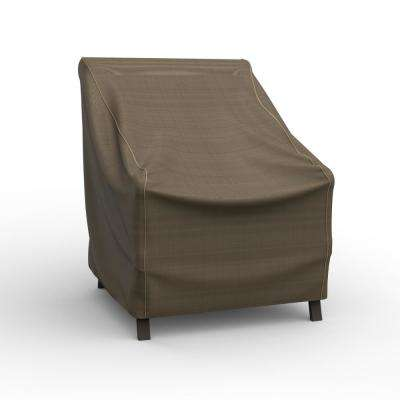NeverWet Hillside Extra Small Black and Tan Patio Chair Cover