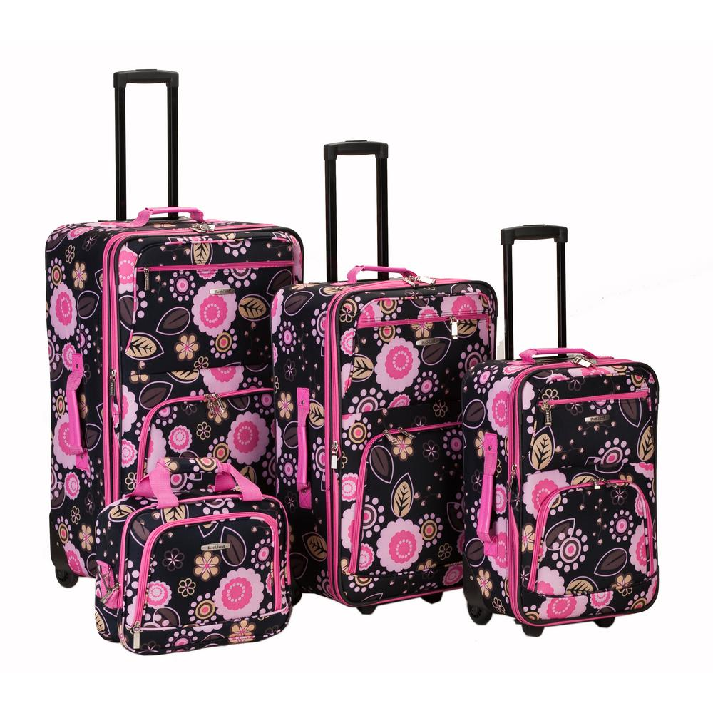 Rockland Beautiful Deluxe Expandable Luggage 4-Piece Softside Luggage Set, Pucci was $239.0 now $143.4 (40.0% off)