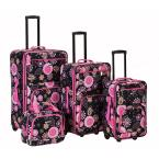 Rockland Beautiful Deluxe Expandable Luggage 4-Piece Softside Luggage Set, Pucci