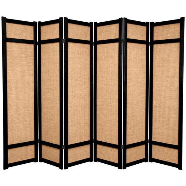 Fabulous 6 Ft Black 6 Panel Room Divider Download Free Architecture Designs Embacsunscenecom