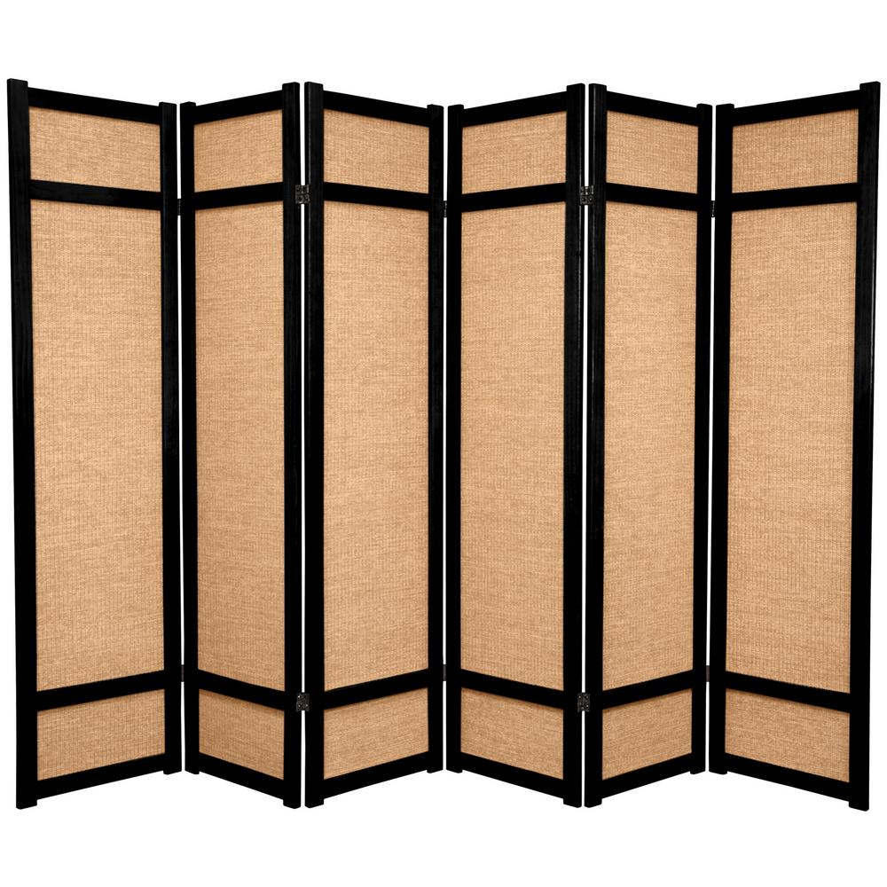6 ft Natural 4 Panel Room Divider CLL 4P NAT The Home Depot