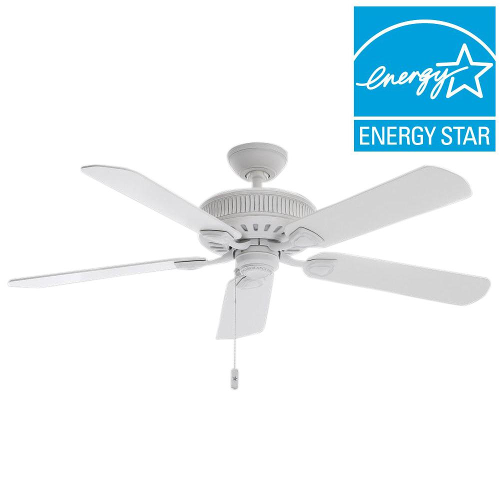 Casablanca Ainsworth 54 in. Indoor Cottage White Ceiling Fan