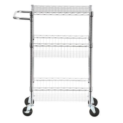 Commercial 30 in. W Steel Basket Kitchen Cart