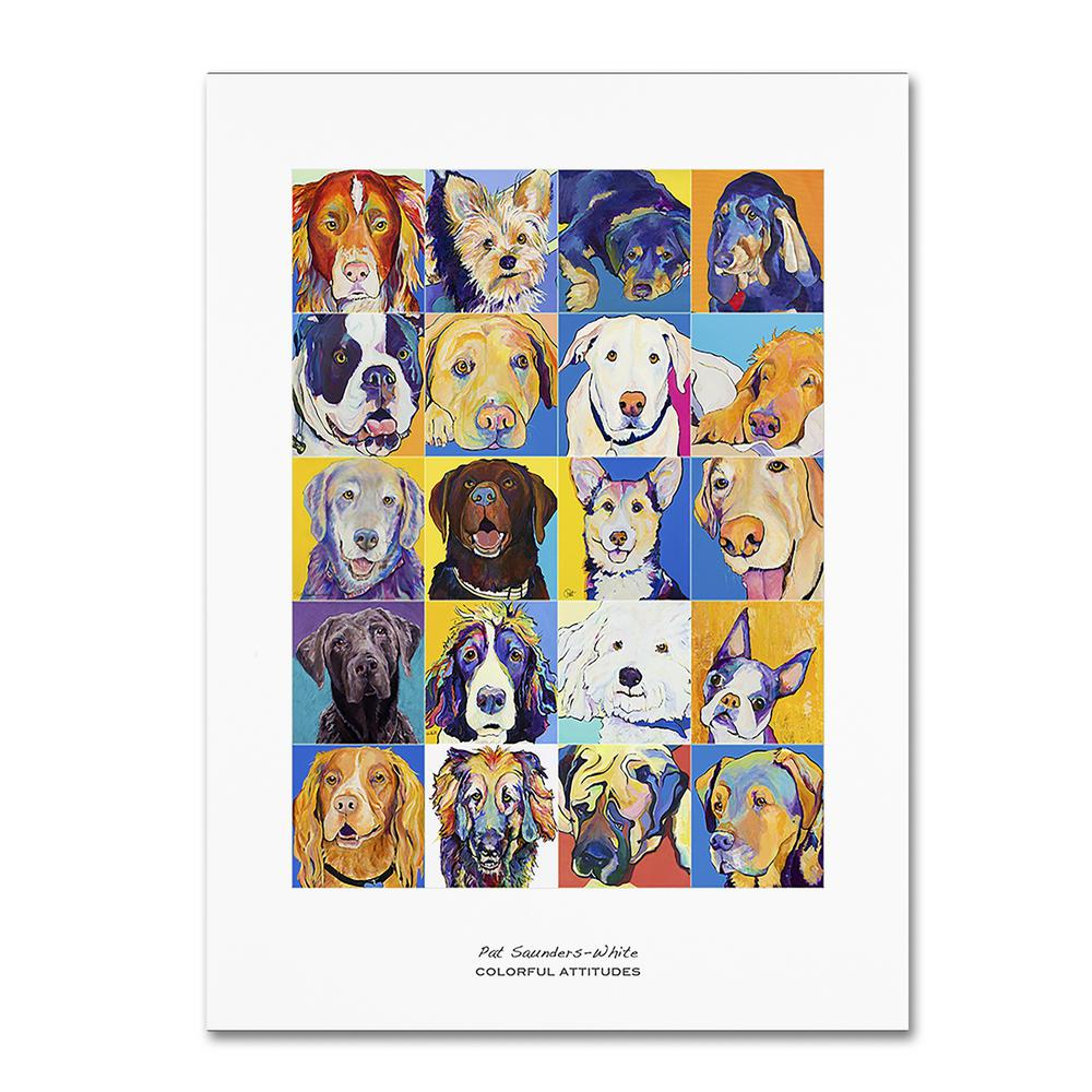 "24 in. x 18 in. ""Colorful Attitudes Poster"" by Pat Saunders-White"