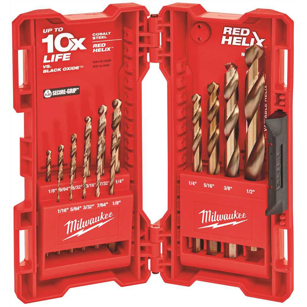 Cobalt Red Helix Drill Bit Kit (15-Piece)