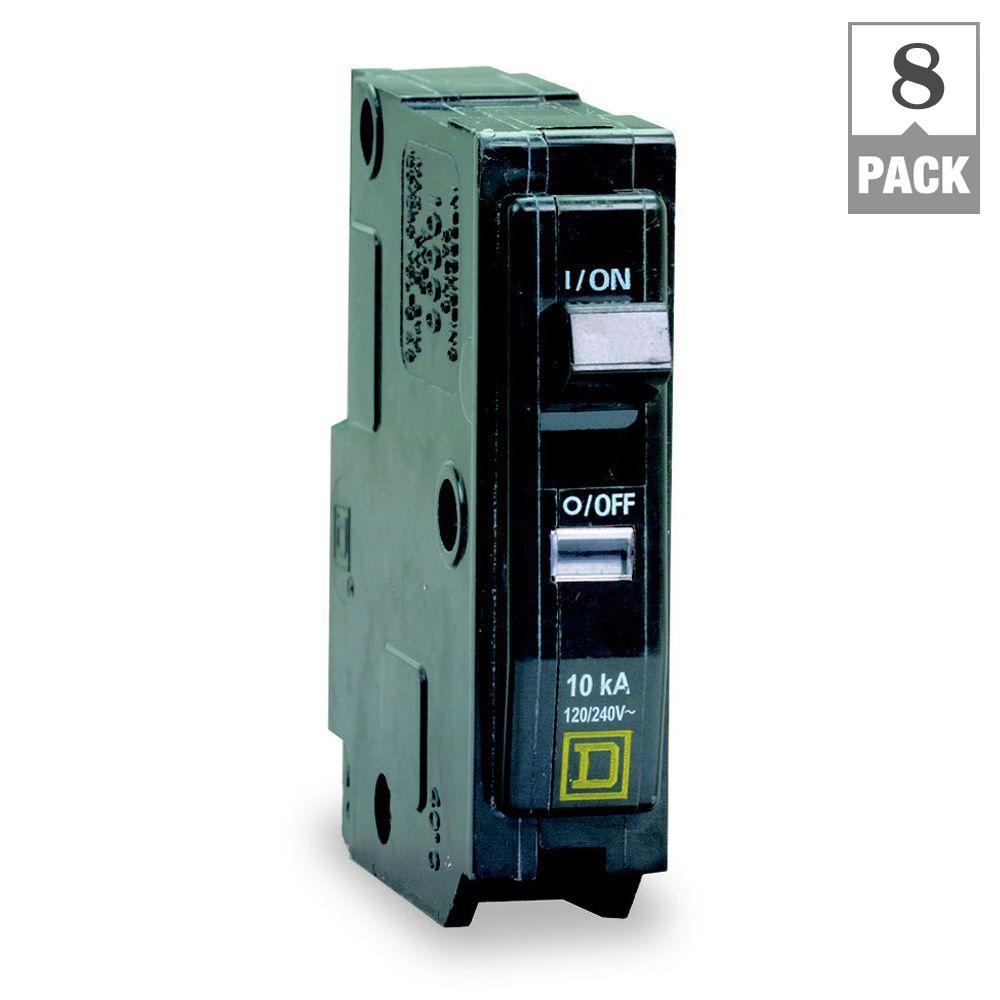 Square D Qo 15 Amp Single Pole Dual Function Cafci And Gfci Afci Fundamentals Arc Fault Circuit Interrupter Breaker 8 Pack