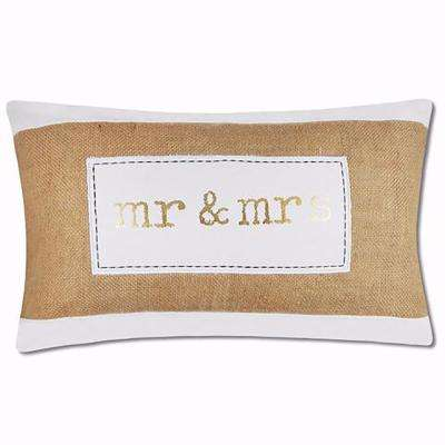 Mr and Mrs Metallic Pillow